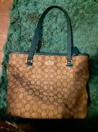 brown and black Coach tote bag Baldwinsville, 13027