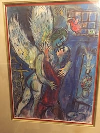 """SIGNED MARC CHAGALL W/ COA , ESTATE FIND! (W/ frame, approx. 22 X 26"""") Glendale, 91203"""