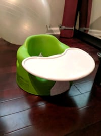 green and white Bumbo floor seat with tray Alexandria, 22310