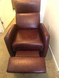 Red leather swivel recliner  Henderson, 89074