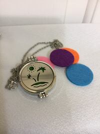 New OAISIS Essential Oil Diffuser, Stainless Steel Necklace Chesapeake, 23320