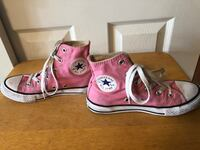 Converse Pink High Top Girls Size 1 Sneakers/Shoes Baltimore, 21236
