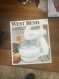 white and gray Kitchen Aid stand mixer box Bowie, 20720