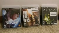 three assorted PS3 games Omaha, 68106