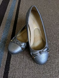 Women's SILVER GoldToe Comfort Plus Ballet Flats Bow Tie Slip On Shoes Anaheim, 92804