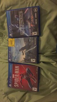 Three assorted ps4 game cases Toronto, M4Y 1G2