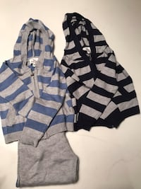 gray and blue striped zip-up hoodie New York, 10013