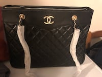 Quilted black chanel leather tote bag Port Coquitlam, V3C 6L7