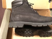 Pair of black timberland work boots size 8.5 brand new never worn women's Groton, 13073