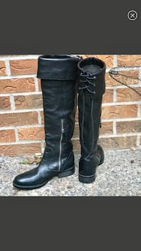 VINCE CAMUTO LEATHER TIE BACK BOOTS 6 Blaine, 55449