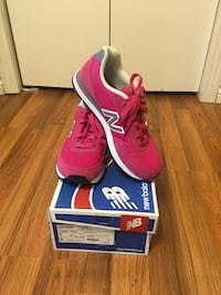 Women's pink new balance shoes, size 7, worn once Edmonton, T6B 0P7