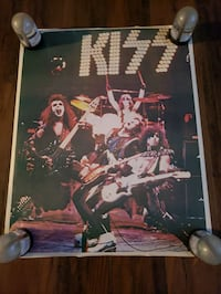 Kiss Alive World Tour Poster,    Very hard to find,  Excellent Con.