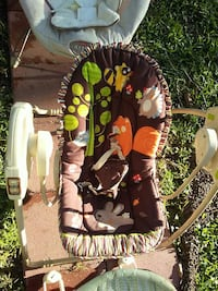 toddler's brown and white portable swing San Antonio, 78233