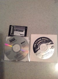 Sound blaster disc and USB drivers disc National Park, 08063