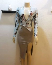 women's white and black floral dress Palmdale, 93552