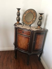 Brown wooden cabinet with mirror Los Angeles, 91324