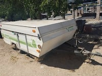 white and red utility trailer Palmdale, 93550