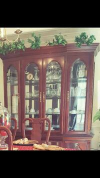 brown wooden framed glass display cabinet Arlington, 22202