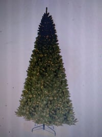 12ft North Valley Spruce Artificial Christmas Tree with Clear Lights