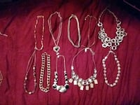 Lot of 10 shorter/choker style necklaces