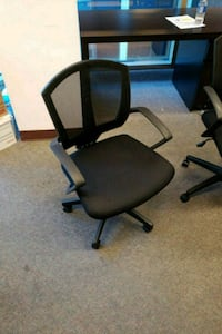 black leather office rolling armchair 3750 km