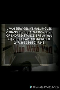 Man with VAN MOVING SERVICES