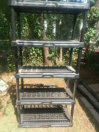 5 tier plastic shelving