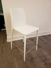 Structube Groove Bar Stool White set of 2 556 km