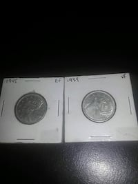 1945 and 1939 Canadian quarters Mississauga, L5A 3R1