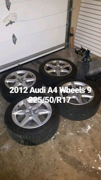 AUDI A4 OEM Wheels with 225/50/R17  Winter Tires Toronto, M1S 3T3