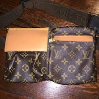 brown and black Louis Vuitton leather crossbody bag Davie, 33314
