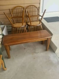brown wooden table and chair Price, 84501