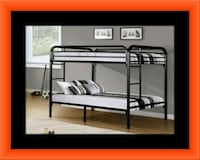 Twin bunkbed frame with mattress Fairfax