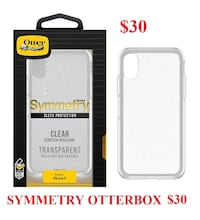IPHONE X  SYMMETRY OTTERBOX $30 OR $35 WITH TEMPERED GLASS Montréal