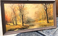 large oil on canvas print signed by Robert Wood Shenandoah, 77380