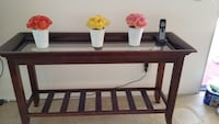 Tall Couch Console Table w (2) piece glass top Carlsbad, 92008
