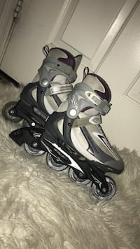 pair of gray-and-black inline skates Surprise, 85379