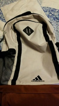 white and black Adidas backpack Norcross, 30071