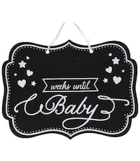 Weeks Until Baby Chalkboard Sign (2nd pic for size)