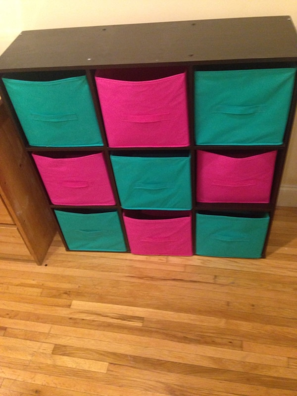 9 cube storage organizer with 9 storage inserts