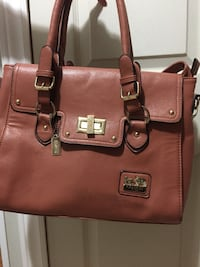 brown Coach leather 2-way bag Chatham, N7L 4K9