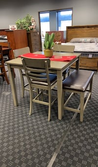 Dining Set - Table, Bench & 3 Chairs