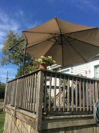 brown and black patio umbrella Lindenhurst, 60046
