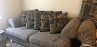Gray and white couch with pillows Akron, 44304