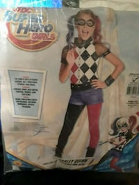 """Young girls """"Harley Quinn"""" Halloween costume small (4-6)"""