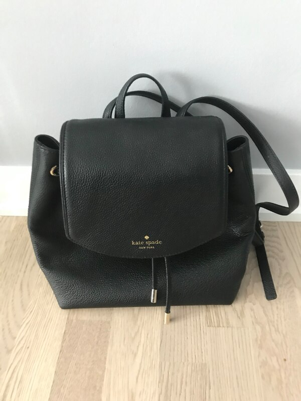 Used black leather 2-way handbag for sale in Toronto - letgo 858d240a972af