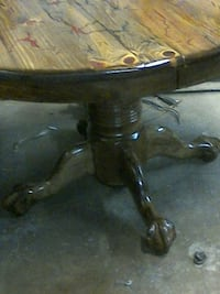 round wooden table  on3 of a  kind Bossier City, 71112