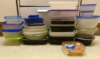 Food containers for food prep and food storage + multiple lids
