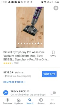 Bissell Symphony Pet all in one Vac/Steam/Mop Strawberry Plains, 37871