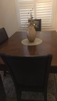 brown wooden dining table set 558 km
